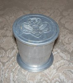 Vintage Girl Scout Collapsible Aluminum Drinking Cup Folding Camping | eBay