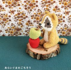 Raccoon and Fruits Amigurumi Plush Crochet Pattern PDF.via Etsy.