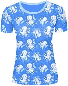Ermison cute octopuses pattern Custom Women's Classic T Shirt hot trend Tee Tshirt - Brought to you by Avarsha.com
