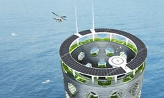 Italian architect Luca Curci has just unveiled designs that envision a soaring zero-energy tower infused with greenery on each level and planted into the sea floor.