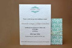 Convites de Casamento - Convites Papel & Estilo - Convite Eco Torino