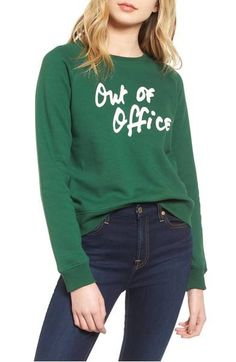Send a clear message that you are OOO and that work talk is off the table in this sweatshirt made for days off.