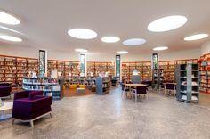 IT, Morbegno, Ezio Vanoni library. Architect Luigi Caccia Dominioni, 1965.