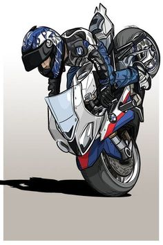 43 Ideas Bmw Motorcycle Illustration For Stunt Bike, Motorcycle Logo, Motorcycle Posters, Motorcycle Birthday, Motorcycle Wheels, Bmw S1000rr, Wheeling, Auto Illustration, Moto Wallpapers