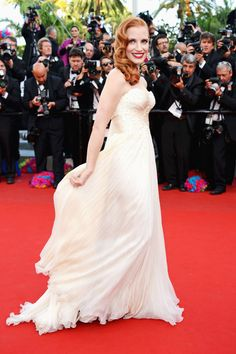 Cannes: Jessica Chastain in Armani Prive at the Madagascar 3 premiere.