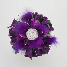 Purple Flower Bouquets | white-and-purple-wedding-flowers-369 | Wedding Flower Ideas