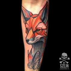 """Fox by Szejn @szejno ❗️ Juniorink WorstTattooShopInTown / Warsaw / #juniorink…"