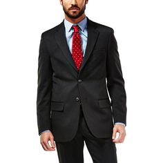 Men's Haggar® Travel Performance Tailored-Fit Suit Jacket, Size: 50 - regular, Oxford