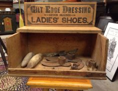 Vintage shoe repair box