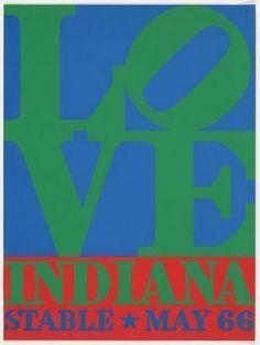 Robert Indiana. Love, Indiana Stable May 66. 1966
