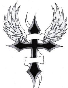Cross With Wings By Purpleaf On Deviantart Design 787x1015 Pixel