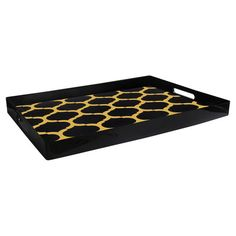 Serve cocktails at your next dinner party or catch keys and mail in the foyer with this eye-catching tray, featuring a quatrefoil trellis motif.