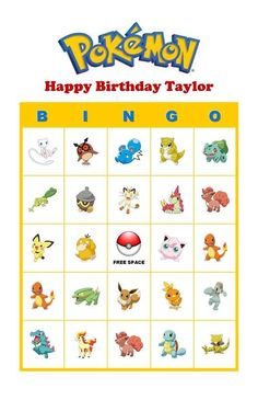pokemon bingo - Google Search