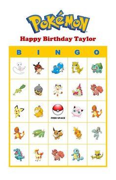 pokemon bingo - Google Search