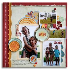 """Summer Sun"" FANCY PANTS NEW RELEASE Wave Searcher - Scrapbook.com"
