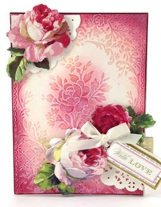 "Lush and romantic, the Rose Pavilion embossing folder and border features a floral design with a rose centerpiece, and the 7"" border features repeating rose cameos—perfect for cards making, scrapbooking and beyond! Purchase on annagriffin.com: http://shop.annagriffin.com/paper-crafts/embossing-diecutting/cuttlebug-a7-rose-pavillon-embossing-folder.html#.UxnsKEbeARI"