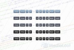 CSS3 Pagination Styles