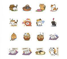『ねこあつめ』LINEスタンプが登場 Nekoatsume LINE stickers available for purchase https://store.line.me/stickershop/product/1134810/en