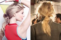 Rag & Bone Spring 2014 - disheveled and knotted low ponytail