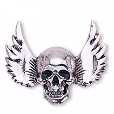 Winged Skull Broach
