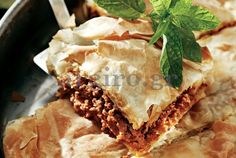 Τραγανή κιμαδόπιτα με πράσο Savory Muffins, Happy Foods, Spanakopita, International Recipes, Pie Recipes, Lasagna, Yummy Food, Ethnic Recipes, Desserts