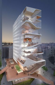 Diller Scofidio + Renfrom, Colombia University Medical Center Tower Rendering.
