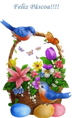 Feliz páscoa Spring Pictures, Easter Pictures, Bird Pictures, Easter Drawings, Art Drawings For Kids, Happy Easter, Easter Bunny, Easter Eggs, Ostern Wallpaper