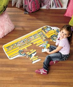 Little ones will love putting together a Jumbo Floor Puzzle. It features vibrant designs and big pieces that are easy for little hands to hold. Arrives in a han