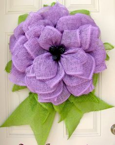 Lavender Summer Fun Paper Mesh Indoor Flower by NicoleDCreations, $55.00