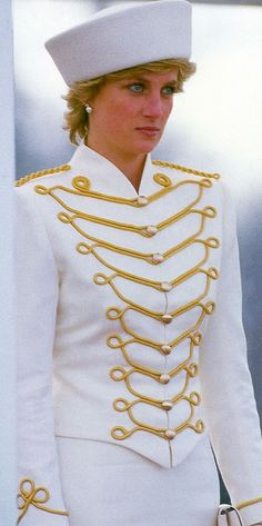 April 10, 1987: Princess Diana at the Sovereigns Parade at the Royal Military Academy in Sandhurst, Berkshire, England.