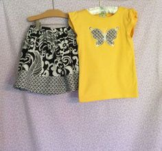 Gymboree 2 Piece T-Shirt and Skort Girls Size 7  #Gymboree