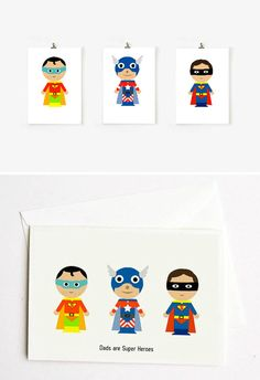 DIY Father's Day - Super Hero Dad Printables by Funkytime