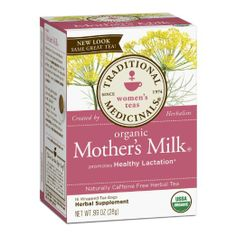 Organic Mother's Milk Tea...swear by this tea for a healthy milk supply while nursing