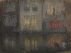 Nocturne: Black and Red, Back Canal, Holland James McNeill Whistler c. 1883