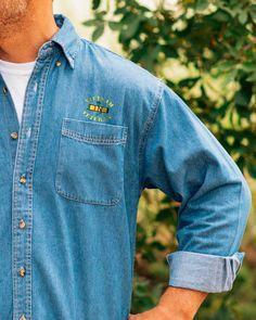 Vietnam Veteran Long Sleeve Denim Shirt 100/% Cotton Embroidered Military Men