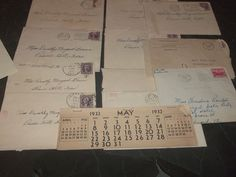 Lot of 12 Letters  & Calendar 1930's + Letter 1952 from Eisenhower campaign