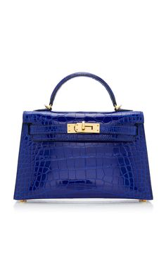 f7e94264aec4 Hermes 20cm Blue Electric Alligator Mini Kelly II by HERMÈS VINTAGE BY  HERITAGE AUCTIONS for Preorder