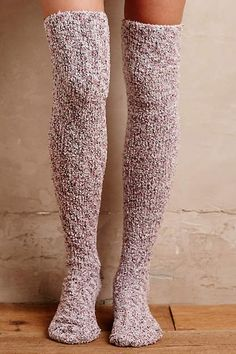 Slouched Over-The-Knee Socks - anthropologie.com