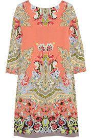 EtroPrinted silk-crepe mini dress