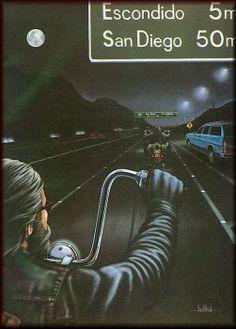 David Mann ~ dark lane ride