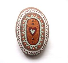 Hand painted art stone/paperweight. by Ludibund on Etsy, £10.00
