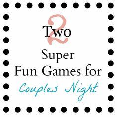 2 great games to play at your next get together, check them out @ YourCraftyFriend.com #games #party #fun