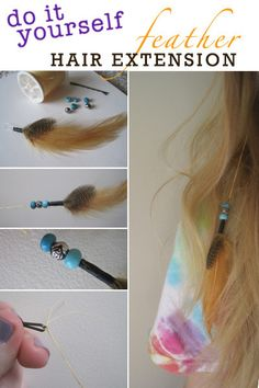 For some reason i still love these why cant they make a come back a fun thing for summertime diy feather hair extension solutioingenieria Image collections