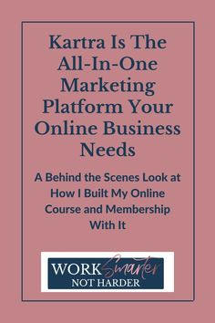 I have tried or researched them all: Leadpages, Convertkit, Clickfunnels, Kajabi, Ontraport, Zendesk, Thinkific, and Vimeo. And then paid Zapier to connect them to my other systems because none of them had the complete marketing package I was looking for. Course creation, email marketing, sales funnels, web hosting, and a complete business management platform made for marketers. That's what Kartra can do and much more. Check out my video that shows you how it works!