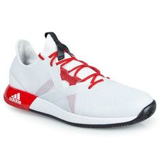 the best attitude 2bf78 b5b1c adidas adizero Defiant Bounce Womens Tennis Shoe - WhiteScarletCore Black