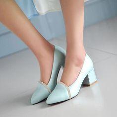 42 Spring Shoes For Teens - Women Shoes Styles & Design Chunky Heel Pumps, Studded Heels, Pumps Heels, Shoes Sandals, Shoes Sneakers, Prom Heels, Wedding Heels, Platform High Heels, Black Platform