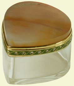 Fabergé heart-shaped box, inspired by Oriental design and incorporating an…