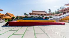 buddhist temple Celebration - A1 Party Buddhist Temple, Celebration, Stage, Mansions, House Styles, Party, Home Decor, Mansion Houses, Homemade Home Decor