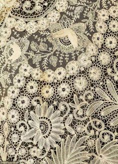 Augusta Auctions. Handmade Brussels lace gown c. 1890s.