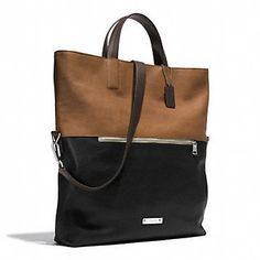 Coach :: International :: THOMPSON FOLDOVER TOTE IN COLORBLOCK LEATHER